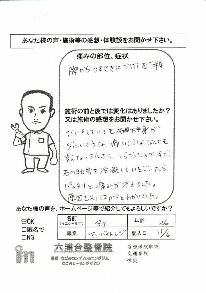 2015.11.06マアさん腰痛