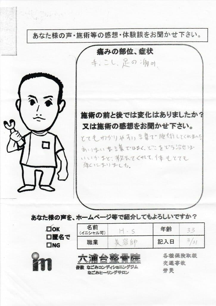 2015.03.31HSさん腰痛